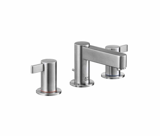 AXOR Steel 3-Hole Basin Mixer by AXOR | Wash-basin taps