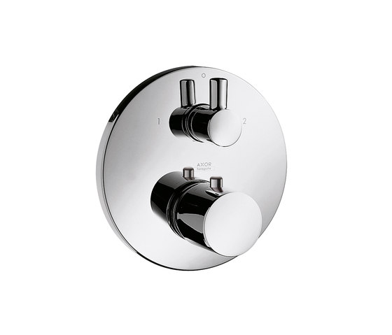 AXOR Uno Thermostatic Mixer for concealed installation with shut-off|diverter valve by AXOR | Shower taps / mixers