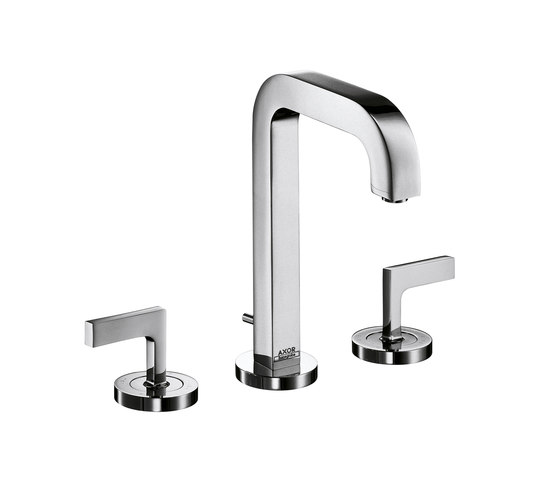 AXOR Citterio 3-Hole Basin Mixer with lever handles and spout 140mm DN15 by AXOR | Wash basin taps