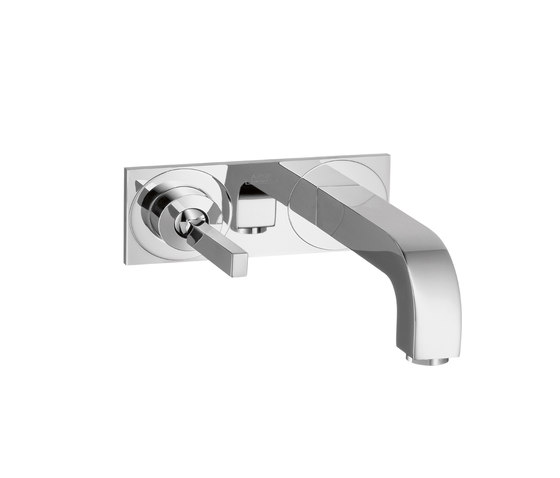 AXOR Citterio Single Lever Basin Mixer for concealed installation with plate and spout 165mm wall mounting DN15 by AXOR | Wash basin taps