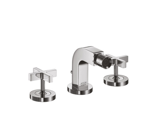 AXOR Citterio 3-Hole Bidet Mixer with cross handles DN15 by AXOR | Bidet taps