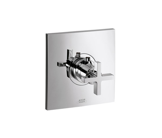 AXOR Citterio Highflow Thermostatic Mixer for concealed installation with cross handle by AXOR | Shower taps / mixers