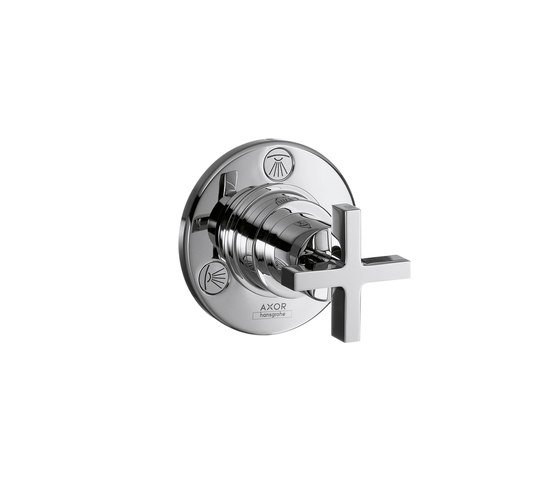 AXOR Citterio Trio|Quattro Shut-off and Diverter Valve for concealed installation with cross handle DN20 by AXOR