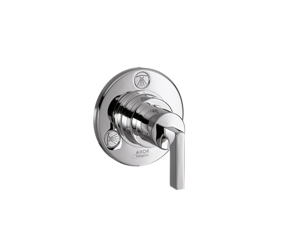 AXOR Citterio Trio|Quattro Shut-off and Diverter Valve for concealed installation with lever handle DN20 by AXOR