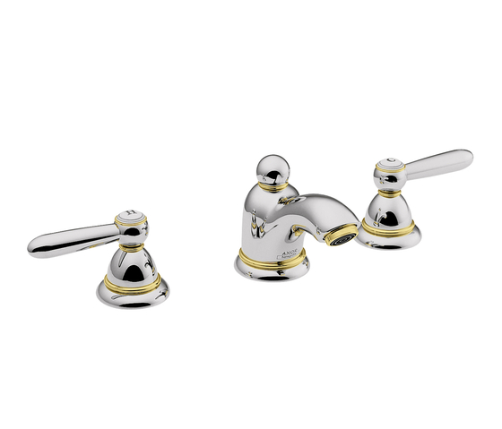 AXOR Carlton 3-hole basin mixer for hand basins with lever handles DN15 by AXOR | Wash basin taps
