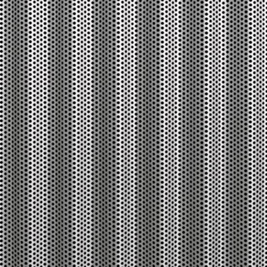 Slow Wave Perfo | 14 aluminium sheet de Fractal | Tôles