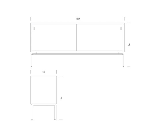 FK 150 Sideboard di Lange Production | Credenze