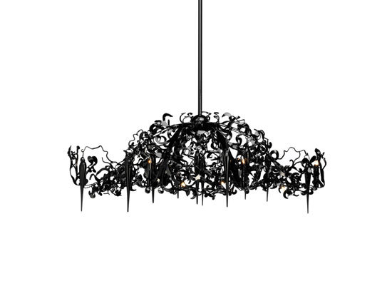 Flower Power chandelier oval by Brand van Egmond | Ceiling suspended chandeliers