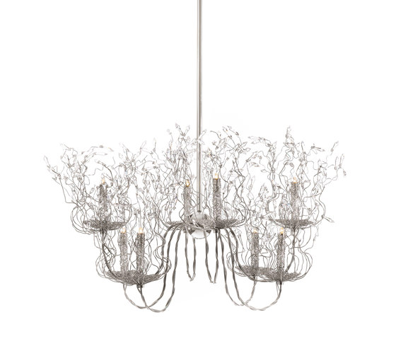 Candles and Spirits chandelier by Brand van Egmond | Ceiling suspended chandeliers