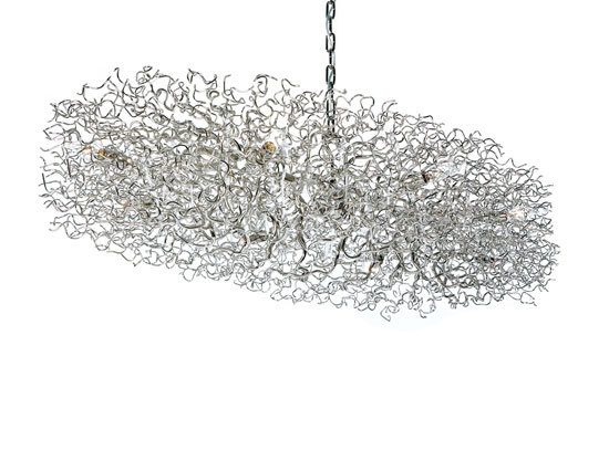 Hollywood chandelier oval by Brand van Egmond | Ceiling suspended chandeliers