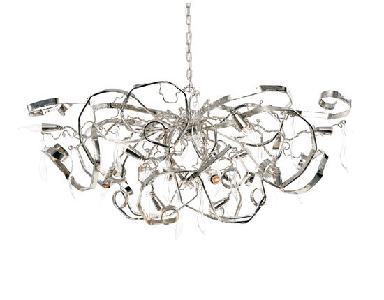 Delphinium chandelier oval by Brand van Egmond | Ceiling suspended chandeliers
