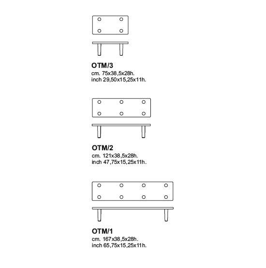 Oak Table Module de Cappellini | Tables basses