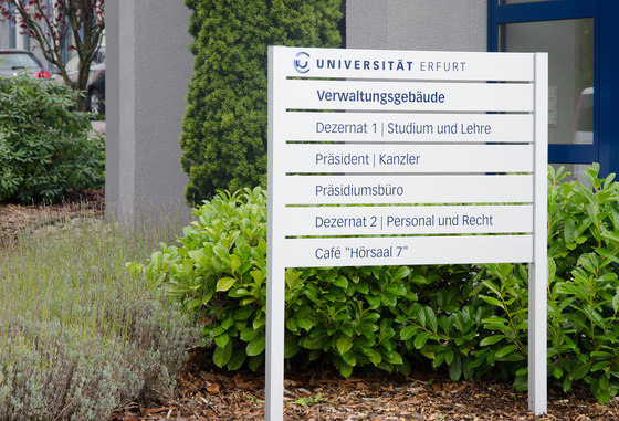 quintessenz upright signage by Meng Informationstechnik | Symbols / Signs