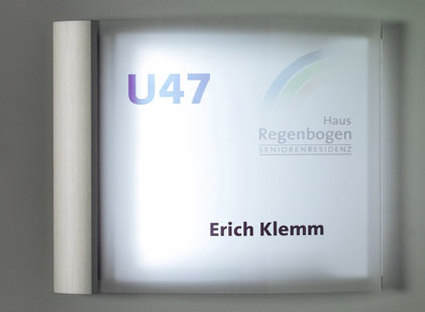 system seven LED door plate de Meng Informationstechnik | Pictogramas