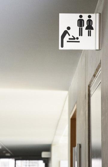 tube+panel Flag sign by Meng Informationstechnik | Symbols / Signs