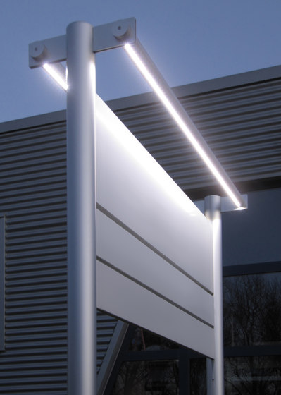 tube+panel Outdoor signs by Meng Informationstechnik   Information totems