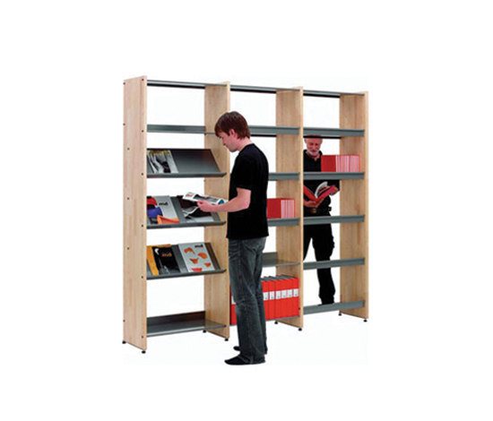 Littbus Wood by Lustrum | Library shelving systems