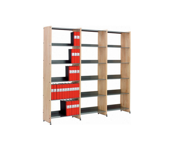 Littbus Wood / Single sided 374x2044 mm by Lustrum | Library shelving systems