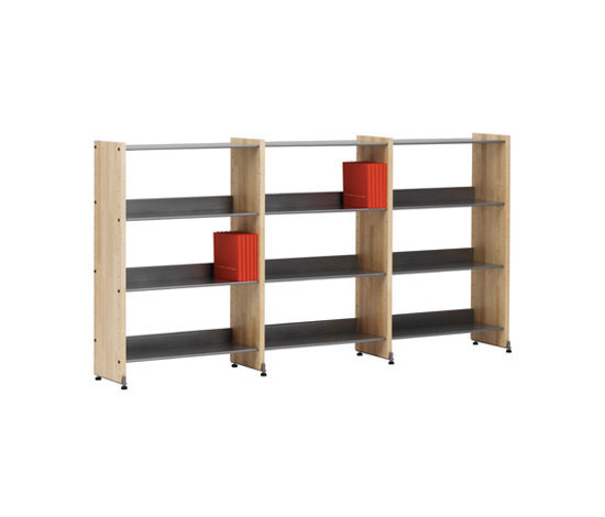Littbus Wood / Single sided 290x1084 mm by Lustrum   Library shelving systems