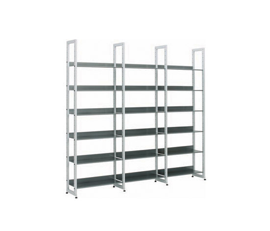 Littbus Steel / Single sided 290x2044 mm by Lustrum | Library shelving systems
