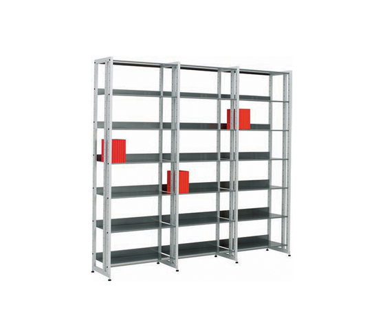 Littbus Steel / Single sided 374x2044 mm by Lustrum | Library shelving systems