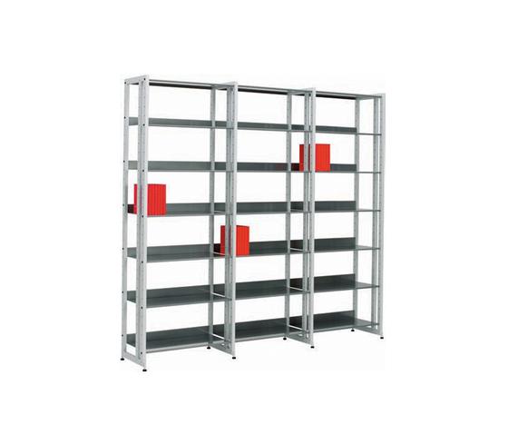 Littbus Steel / Single sided 374x2044 mm de Lustrum | Étagères pour bibliothèques