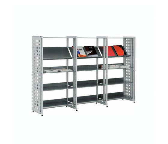 Littbus Perforated Steel / Single sided 374x1404 mm by Lustrum | Library shelving systems