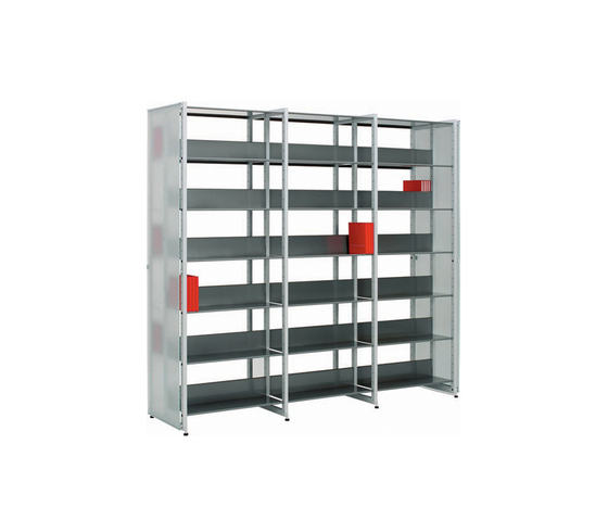 Littbus Glass / Double sided 542x2044 mm by Lustrum | Library shelving systems