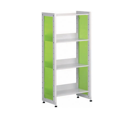 Littbus Glass / Single sided 290x1084 mm by Lustrum | Library shelving systems