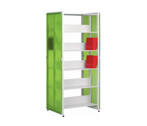 Littbus Glass / Double sided 542x1724 mm by Lustrum | Library shelving systems