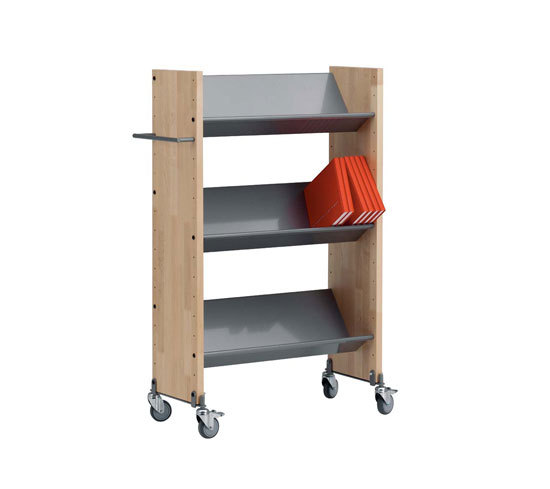 Modules / Book trolley - Mobil 1 di Lustrum | Carrelli da biblioteca