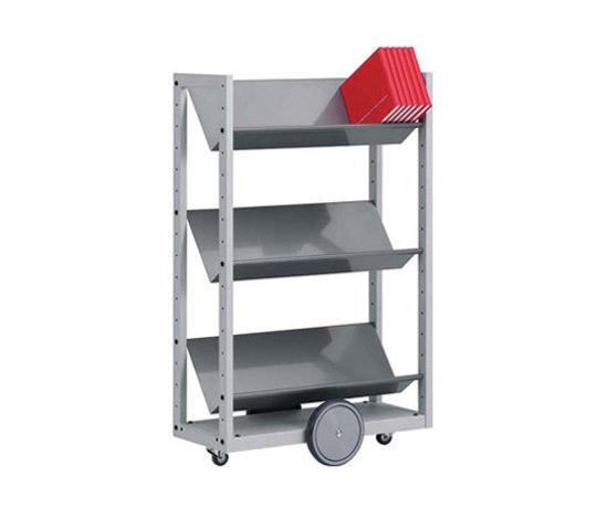 Modules / Book trolley - Mobil 4 di Lustrum | Carrelli da biblioteca