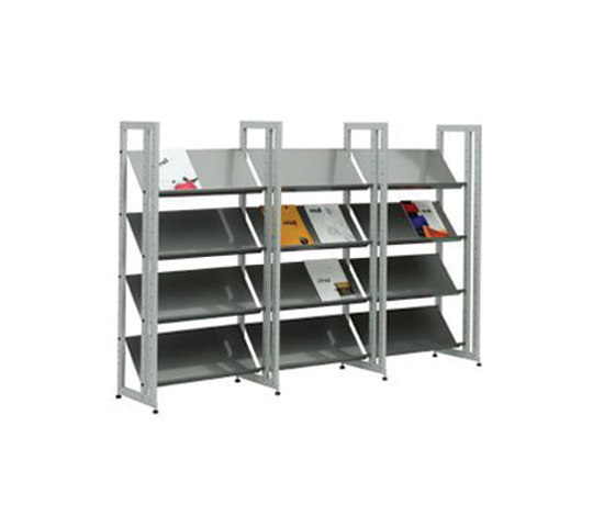 Littbus Steel / Single sided 374x1404 mm by Lustrum | Library shelving systems