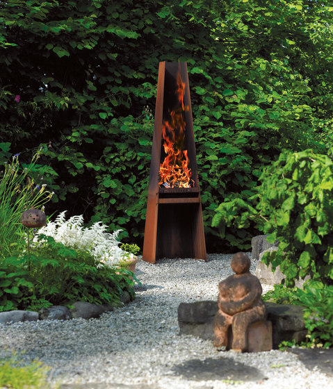 GIZEH de Attika Feuer | Chimeneas de jardín