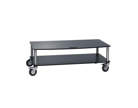 Base TV-Trolley with 2 shelfs by Cascando | AV trolleys