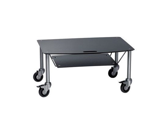Base TV-Trolley with DVD tray by Cascando | AV trolleys