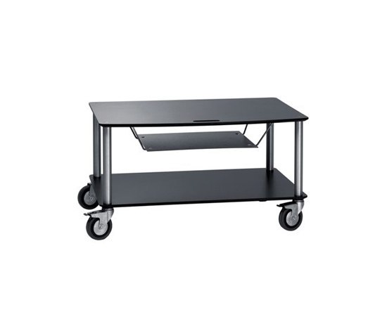 Base TV-Trolley with 2 shelfs + DVD tray von Cascando | Hifi/TV Trolleys