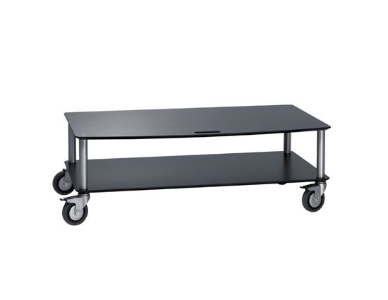 BigBase TV-Trolley with 2 shelf von Cascando | Multimedia Trolleys