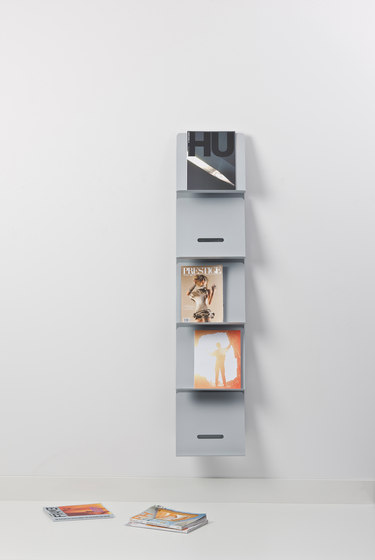 Round20 Wall panel brochure holder by Cascando | Brochure / Magazine display stands