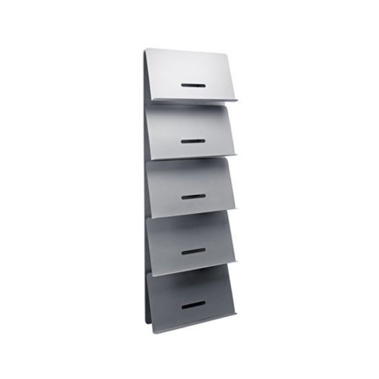 Round 20 Wall panel brochure holder by Cascando | Brochure / Magazine display stands