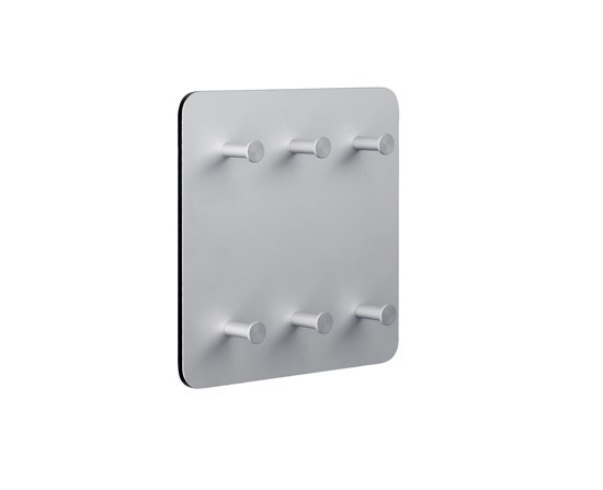 Round 20  Wall panel, 6 key holders by Cascando | Hook rails
