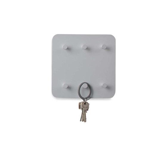 Round20  Wall panel, 6 key holders by Cascando | Key cabinets / hooks