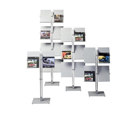 Flexxible double 2 by Cascando | Brochure / Magazine display stands