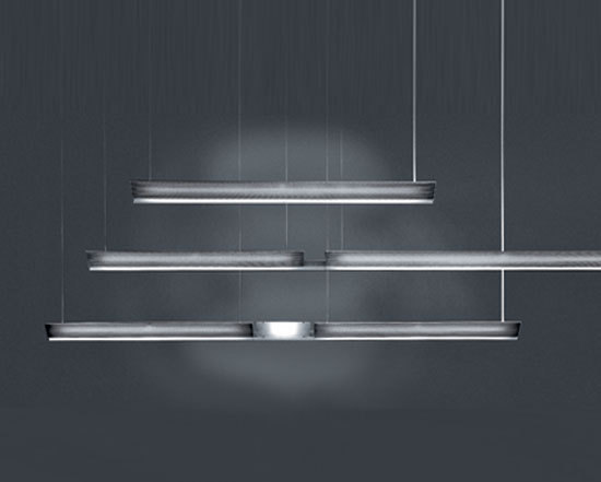 Ypsilon D by Baltensweiler | Pendant strip lights