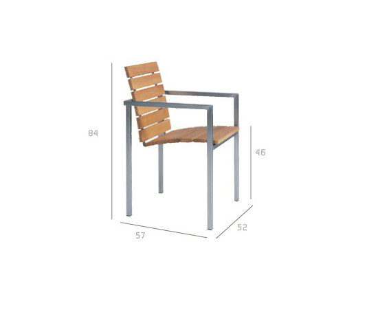 Natal Teak Armchair by Tribù | Garden chairs