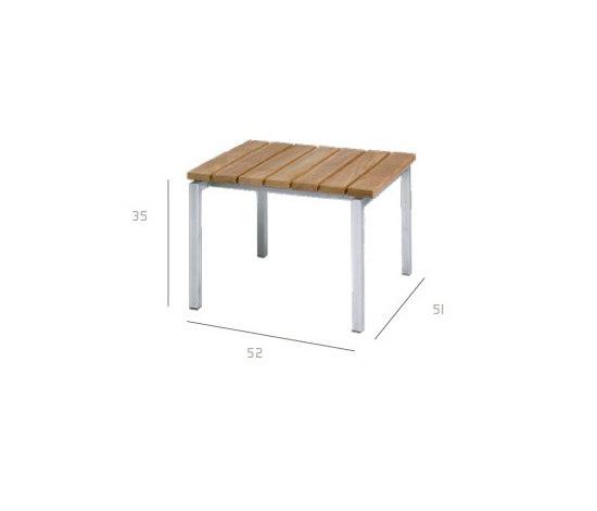 Natal Teak Footrest by Tribù | Garden stools