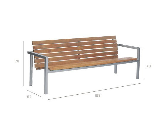 Natal Teak Bench by Tribù | Garden benches