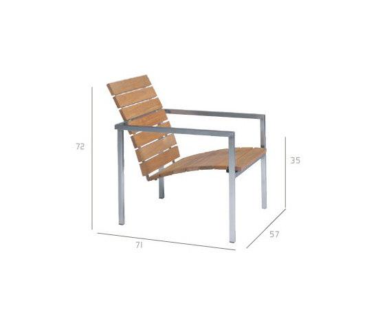 Natal Teak Easy chair by Tribù | Garden armchairs