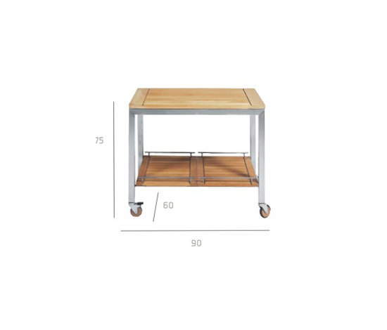 Natal Teak Trolley by Tribù | Serving-trolleys