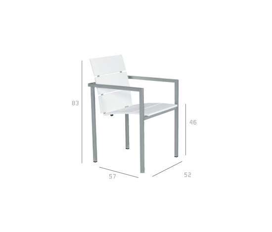 Natal Techno Armchair by Tribù | Garden chairs